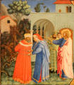 Apostle St. James the Greater Freeing the Magician Hermogenes painting by Fra Angelico at Kimbell Art Museum. Fort Worth, TX.