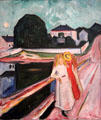 Girls on the Pier painting by Edvard Munch at Kimbell Art Museum. Fort Worth, TX.