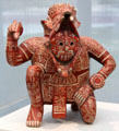 Ceramic Mixtec Rain God vessel from Colima, Mexico at Kimbell Art Museum. Fort Worth, TX