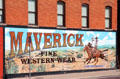 Mural with cowboys in Fort Worth Stock Yards historic district. Fort Worth, TX.