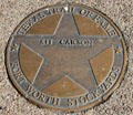 Kit Carson star on Texas Trail of Fame in Stock Yards historic district. Fort Worth, TX.