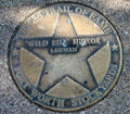 Wild Bill Hickok star on Texas Trail of Fame in Stock Yards historic district. Fort Worth, TX.