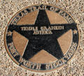 Temple Grandin star on Texas Trail of Fame in Stock Yards historic district. Fort Worth, TX.