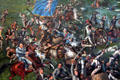 Detail of Battle of San Jacinto painting by H.A. McArdle at Texas State Capitol. Austin, TX.