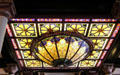 Stained glass skylight of Driskill Hotel. Austin, TX.