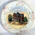 Commemorative plate depicting Residence of H.F. Cook in Seguin, TX at Conservation Plaza. New Braunfels, TX.