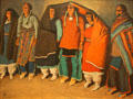 Round Dance painting of Taos natives by Maynard Dixon at BYU Museum of Art. Provo, UT
