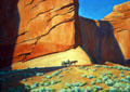 Lonesome Journey painting of wagon in desert by Maynard Dixon at BYU Museum of Art. Provo, UT.