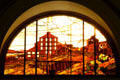 Mining mill stained glass window at Union Pacific Railroad depot. Salt Lake City, UT.