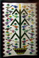 Navaho tree of life rug by Mae Bow at Utah Museum of Natural History. Salt Lake City, UT.