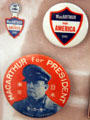 MacArthur for President buttons at Douglas MacArthur Memorial. Norfolk, VA.