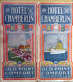 Jamestown Exposition of 1907 Hotel Chamberlin pamphlet from Hampton Roads Naval Museum at Nauticus. Norfolk, VA.