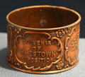 Jamestown Exposition souvenir napkin ring at Hampton Roads Naval Museum. Norfolk, VA.
