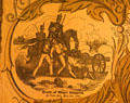 Poster detail of Gen. Zachary Taylor at Death of Major Ringgold at Palo Alto. Orange, VA.