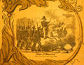 Poster detail of Gen. Zachary Taylor leading siege of Monterey. Orange, VA.