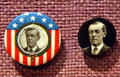 Woodrow Wilson for President buttons at his Presidential Library. Staunton, VA