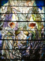 Angels of Annunciation in stained glass window by Tiffany Studios in St. Paul's Episcopal Church. Richmond, VA.