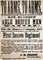 Poster recruiting for Civil War troops at Bennington Museum. Bennington, VT.