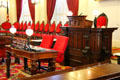 Speaker's chair in House of Representatives at Vermont State House. Montpelier, VT.