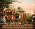 Penn's Treaty with the Indians painting by Edward Hicks at Shelburne Museum. Shelburne, VT.
