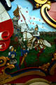 Painting of Joan of Arc on France circus wagon at Circus World Museum. Baraboo, WI.