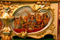 Painting of angels playing music on Royal American Shows Gavioli Band Organ at Circus World Museum. Baraboo, WI.