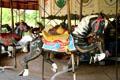 Antique carousel with only horses because circuses found that children of the bygone era were afraid of other animals at Circus World Museum. Baraboo, WI.