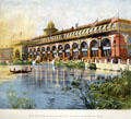 Print of Louis Sullivan's Transportation Building at World's Columbian Exposition by Poole Bros. at Columbus Museum. Columbus, WI.
