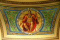 Government mosaic in rotunda of Wisconsin State Capitol. Madison, WI.