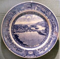 B&O dining car dinner plate with Harpers Ferry Scene at West Virginia State Museum. Charleston, WV.