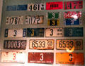 Collection of WV license plates at West Virginia State Museum. Charleston, WV.