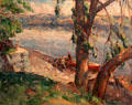 Shad Boat painting by John Fulton Folinsbee at Huntington Museum of Art. Huntington, WV.