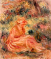 Young Woman in a Landscape painting by Pierre-Auguste Renoir at Huntington Museum of Art. Huntington, WV.