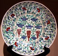 Dish with vines & grapes Iznik, Turkey at Huntington Museum of Art. Huntington, WV.