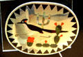 Zuni Indian roadrunner inlay silver jewelry at Nelson Museum of the West. Cheyenne, WY.