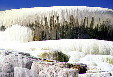 Outdoor stalactites of Minerva Terrace in Yellowstone National Park. WY